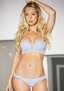 Blue Romance Floral Push Up Bra