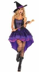 Broomstick Babe Sexy Witch Costume