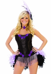 Burlseque Show Girl Sexy 4 PC Costume