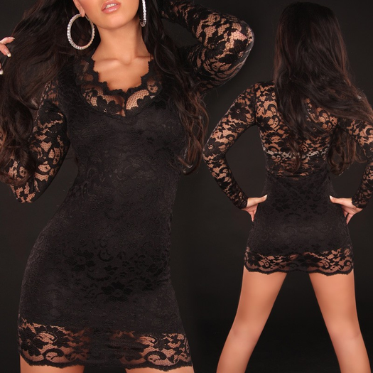 Call Me Tonight Black Mini Dress