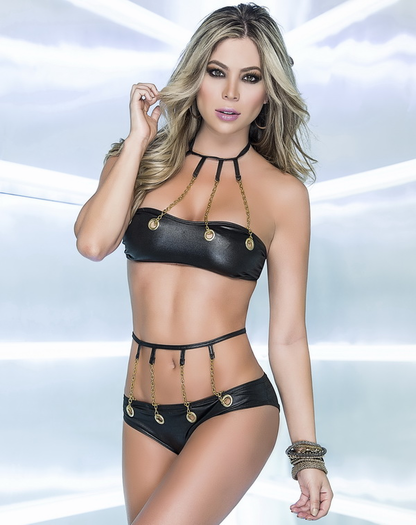 Chain Up Your Love Sexy Bra Top & Panty Set