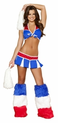 Charming USA Cheerleader Sexy 3 PC Costume