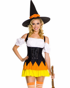 Chic Candy Corn Witch Costume