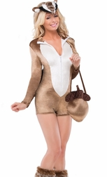 Chipper Chipmunk Sexy 4 PC Costume