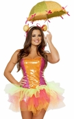 Colorful Clown Cutie Sexy 4 PC Costume