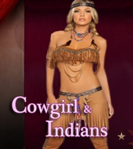 Cowgirls & Indians Costumes