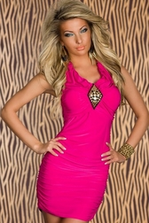 Dangerously Sexy Hot Pink Mini Dress