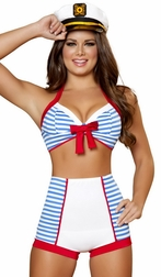 Dashing Pinup Sailor Sexy 3 PC Costume