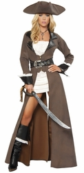 Deluxe 4pc Pirate Captain Costume