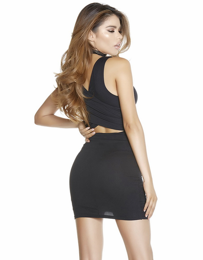 Dip Down Little Black Dress