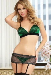 Emerald Lust Sexy 3 PC Bra Set