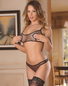 Exposed Fishnet Arousal Sexy Nippleless Bra Set