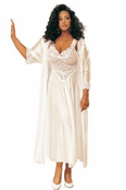 Extra Plus Size Heavenly Lace Tricot Long Gown
