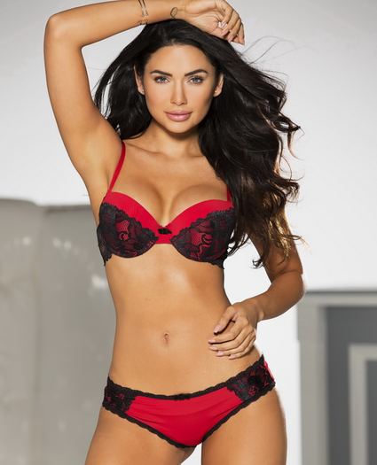 Eye Candy Red Lace Push Up Bra