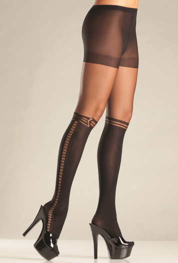 Faux Knee High Pantyhose
