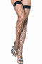 Fence Net Thigh High Stocking