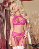 Forget Me Not Bra & Garter and G String Set