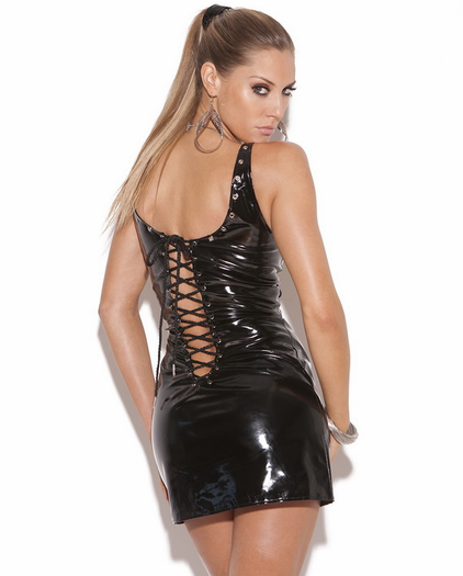 Foxy Front & Back Lace Up Mini Dress