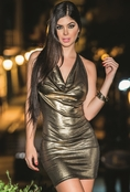 Golden Seduction Sexy Dress