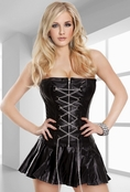 Good Girl Gone Wild Faux Leather Corset