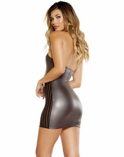 Gunmetal Sexy Mini Dress