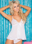 H.O.T. Sequin Embroidery Babydoll