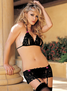 H.O.T. Stretch Lace Open Front 3 PC Set