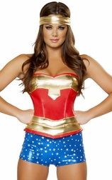 Heroine Hottie Sexy 3 PC Costume