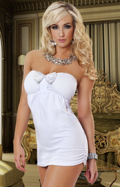 Hot Date Tonight White Mini Dress