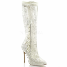 Ivory Lace Bridal Boots