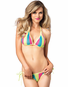 Kosmic Kolor Striped Fishnet Set