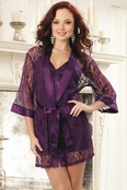 Amethyst Lust Sexy Robe Set