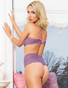Lavender Love Affair Lace Bra & High Waist Thong Set