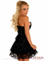 Lavishly Lace Sexy Black Corset Dress