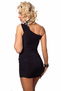 Let's Spend the Night Together Sexy Black One Shoulder Mini Dress