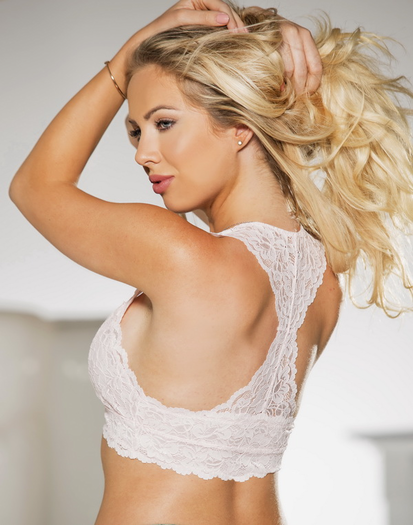 Light Pink Lace Bralette Top
