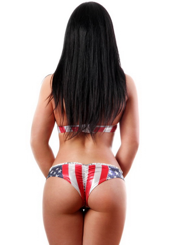 Sexy cropped bram american flag lingerie fourth of july sets