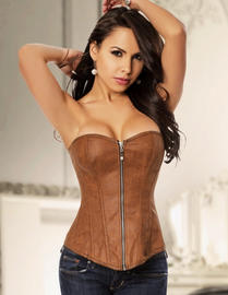 Love Me Like You Do Faux Leather Corset