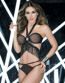 Luxurious Love Fringe Sexy Top & Panty Set