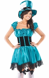 Mad Little Hatter Sexy 3 PC Costume