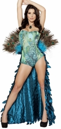 Majestic Peacock Sexy 2 PC Costume
