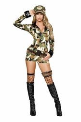 Military Babe Sexy Soldier 3 PC Costume