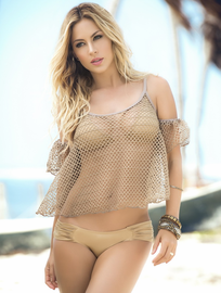 Mocha Memories Beach Top & Cover Up