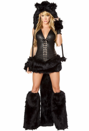 Naughty Black Kitty Sexy Costume