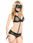 Naughty Night Fishnet Bra, Collar, & Panty Set
