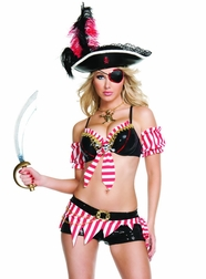 Naughty Pirate Wench Sexy 4 PC Costume