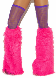 Neon Furry Boot Covers