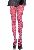 Neon Pink Leopard Tights