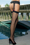 Net Garterbelt Ribbon Stockings