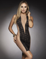 Nude Temptress Lace Mid Dress